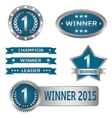 Winner labels vector image vector image