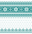 winter christmas fair isle knit pattern vector image vector image