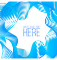abstract line template summer blue background vector image