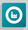 flat factory icon vector image