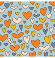 Holiday background with hearts for Valentines day vector image