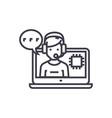 client technical service concept thin line vector image