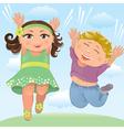 Jumping children vector image