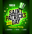 17 march saint patricks day madness party poster vector image