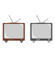 2 retro tvs vector image