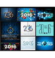 2016 set happy new year background for your vector image