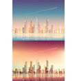 Abstract and futuristic cityscape background vector image vector image