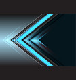 abstract blue arrow light power direction on grey vector image