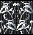abstract tribal style damask 3d seamless vector image
