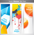 abstract vertical headers vector image vector image