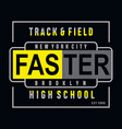 athletic sport high school typography vector image vector image