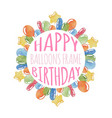balloons birthday frame vector image vector image