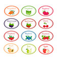 big set of different labels for jam and conservs vector image vector image