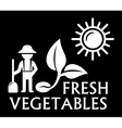 black agriculture symbol vector image vector image