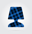 Blue black tartan icon - bedside table lamp