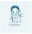 Boy archer with bow in sketch sryle vector image vector image