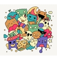 Bright funny doodles vector image