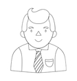 Businessman icon in outline style isolated on vector image