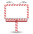candy cane billboard on white vector image vector image