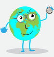 Character globe with compas vector image vector image