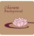 chinese background vector image vector image