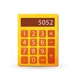 color calculator icon in flat style bright orange vector image