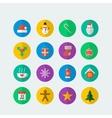 Colorful Christmas icon set vector image