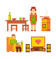 colorful of woman and man happy family coupl vector image vector image