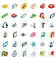 community icons set isometric style vector image vector image
