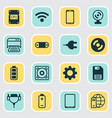 computer icons set collection of connector radio vector image vector image