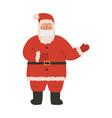 cute hand drawn flat santa claus in medical face vector image vector image