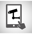data protection smartphone surveillance camera vector image vector image