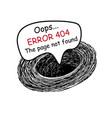 error 404 drawing vector image