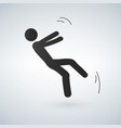 falling person silhouette pictogram on white vector image