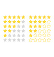 five star rating modern rated objects vector image vector image