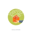Global communication Social vector image vector image