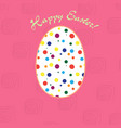 greeting card for easter holidays vector image vector image