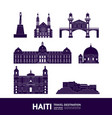 haiti travel destination vector image vector image
