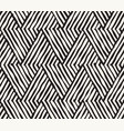hand drawn black and white ink striped seamless vector image vector image