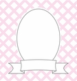 Hand drawn decorative photo frame on pastel pink vector image