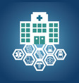 hospital medical service health vector image vector image