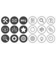 internet seo icons repair database and star vector image vector image