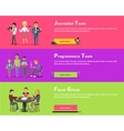 Journalists Team Programmers Geek Focus Group vector image