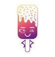 kawaii ice cream stick cartoon character vector image vector image