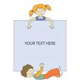 kids frame 3 vector image