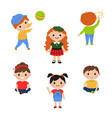 little children play with toys little children vector image