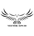 logo hawk that is flying eps 10 vector image vector image