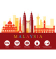 Malaysia landmarks skyline with accommodation