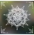 Mandala flower on blured background vector image vector image