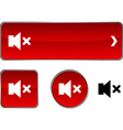 Mute button set vector image vector image